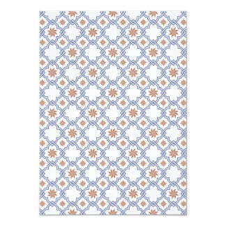 Moorish Wedding Invitation Design - Blue & Brown