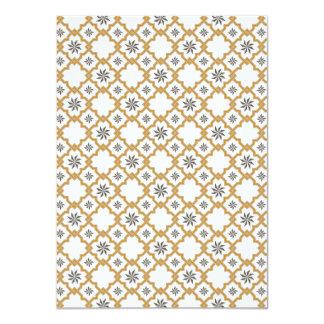 Moorish Wedding Invitation Design - Gold Off-White