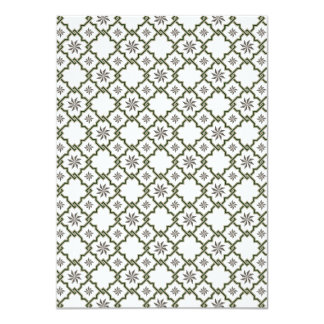 Moorish Wedding Invitation Design - Green OffWhite