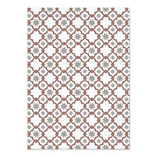 Moorish Wedding Invitation Design - Red Off-White
