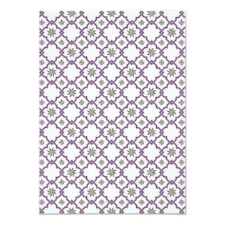 Moorish Wedding Invite Design - Purple Off-White