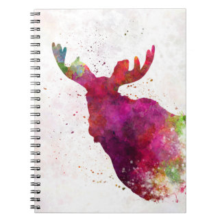 Moose 05 in watercolor note book
