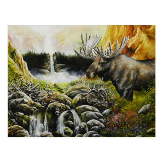 Moose~ A Painting on customisable products Postcard