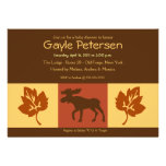 MOOSE Adirondack Lodge Rustic theme Baby Shower Personalized Announcements