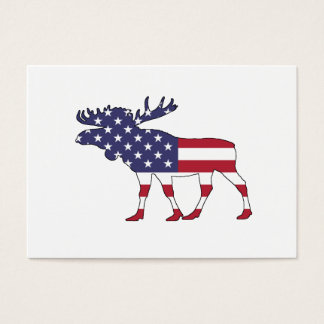 "Moose ""American Flag"" Business Card"
