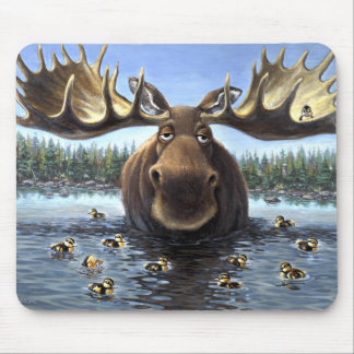 Moose and Friends Mouse Pad