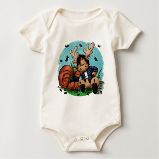 Moose and Squirrel Baby Bodysuit