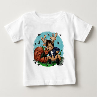 Moose and Squirrel Baby T-Shirt