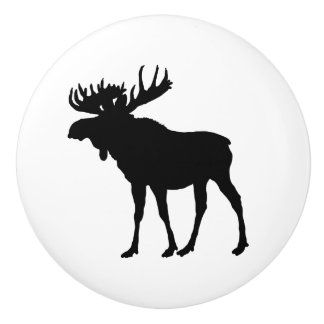 Moose Animal door knob drawer pull