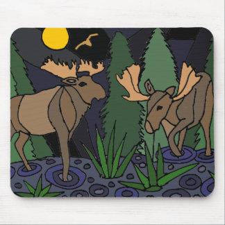 Moose Art Abstract Mousepad