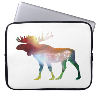 Moose Art Laptop Sleeve