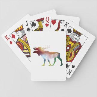Moose Art Playing Cards