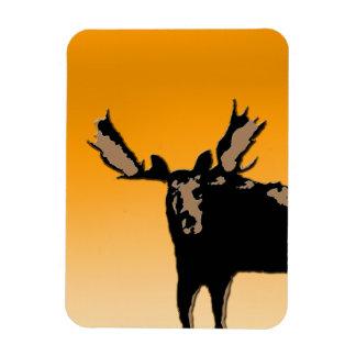 Moose at Sunset Magnet