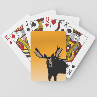 Moose at Sunset Playing Cards