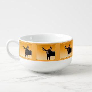 Moose at Sunset Soup Mug