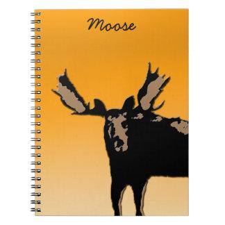 Moose at Sunset Spiral Notebook