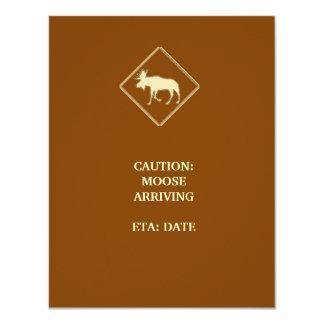 Moose Baby Shower Card