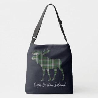 Moose Cape Breton tartan travel shoulder  Bag blue