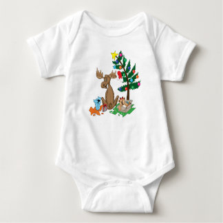 Moose Christmas baby shirt