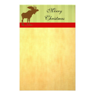 Moose Christmas Customised Stationery