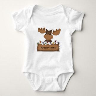 Moose Christmas (customizable) Baby Bodysuit