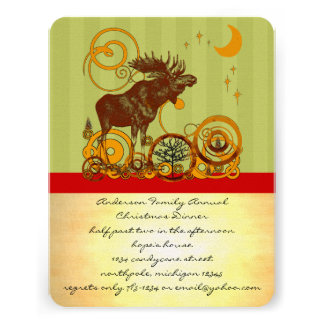 Moose Christmas Personalized Announcement