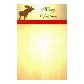 Moose Christmas Personalized Stationery