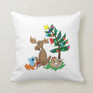 Moose Christmas Pillow