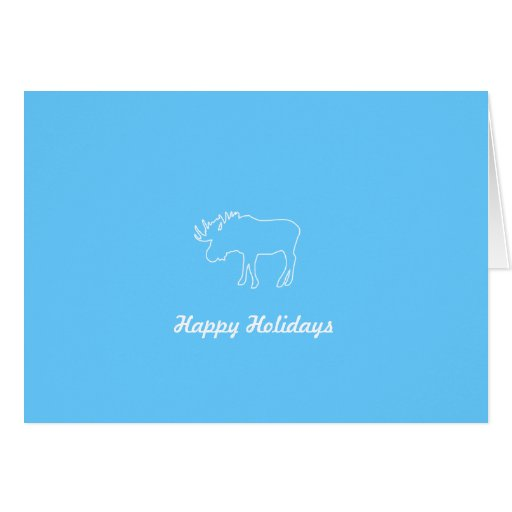 Moose Collection   Happy Holidays Folded Card
