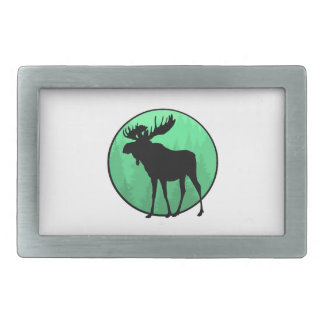 Moose Domain Rectangular Belt Buckle