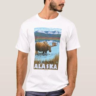 Moose Drinking at Lake - Cordova, Alaska T-Shirt