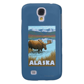 Moose Drinking Water Vintage Travel Poster Galaxy S4 Covers