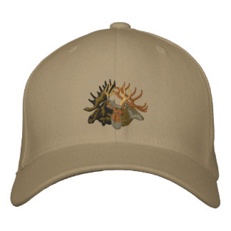 Moose, Elk, Deer Embroidered Hat