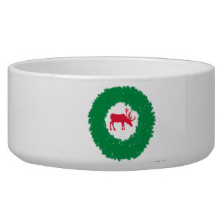 Moose for Christmas | Happy Holiday Moose Dog Food Bowls