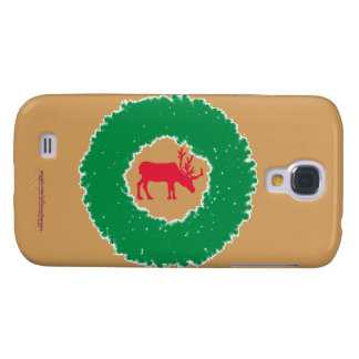 Moose for Christmas | Happy Holiday Moose Galaxy S4 Cases