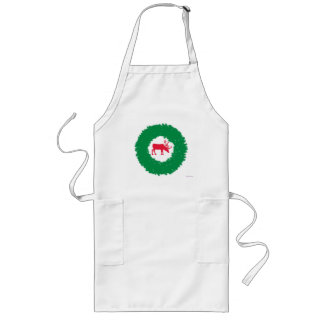 Moose for Christmas | Happy Holiday Moose Long Apron