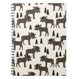 Moose Forest - Dark Brown Cream / Andrea Lauren Notebooks