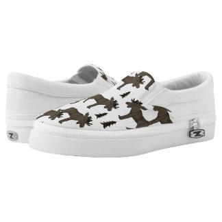 Moose Forest - Dark Brown Cream / Andrea Lauren Printed Shoes