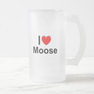 Moose Frosted Glass Beer Mug