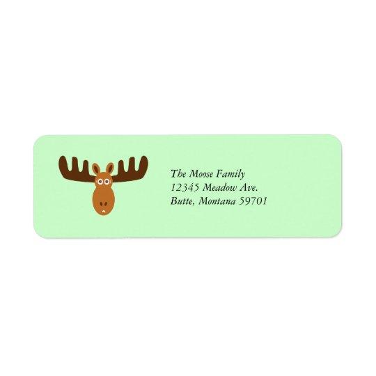 Moose Head_Classic customisable Return Address Label