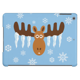 Moose Head_Icicle Antlers_Humorous Holidays Case For iPad Air