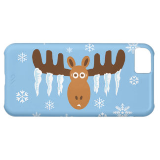 Moose Head_Icicle Antlers_Humorous Holidays iPhone 5C Case
