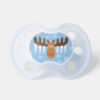 Moose Head_Icicle Antlers_Tis the freezin' season Pacifiers