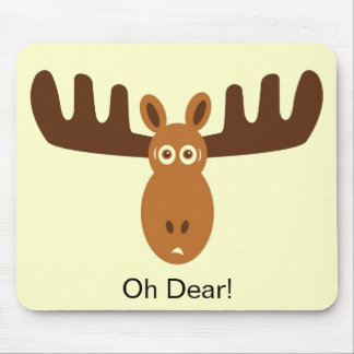 Moose Head_Oh Dear! Mouse Pad