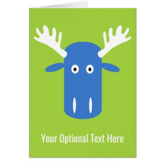 Moose Head Pop Art custom greeting card