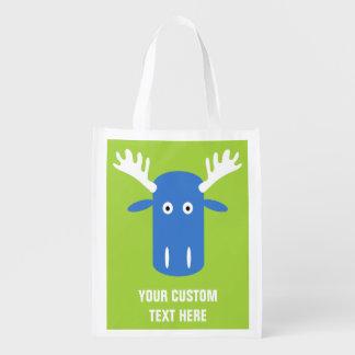 Moose Head Pop Art custom reusable bag