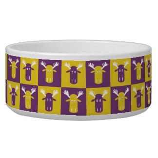 Moose Head Pop Art pet bowls