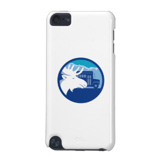 Moose Head School Bus Circle Retro iPod Touch (5th Generation) Covers