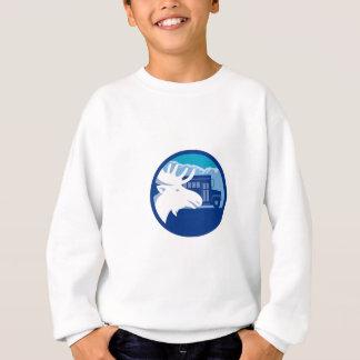 Moose Head School Bus Circle Retro Sweatshirt