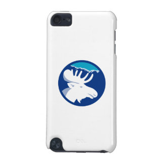 Moose Head Side View Circle Retro iPod Touch (5th Generation) Cases